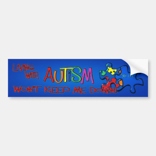 Living With Autism Bumper Sticker