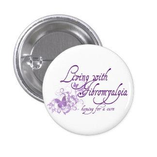 Living with Fibromyalgia Pinback Button
