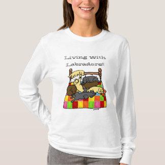 Living with Labradors Cartoon T-Shirt