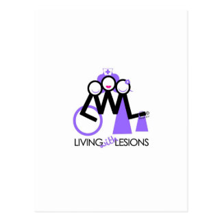 Living With Lesions Postcard