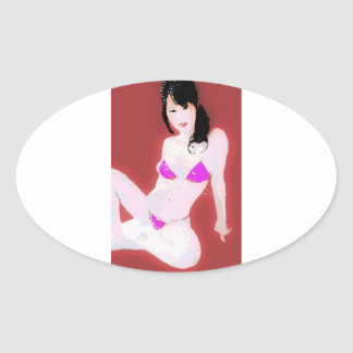 LivingDoll1 Oval Sticker