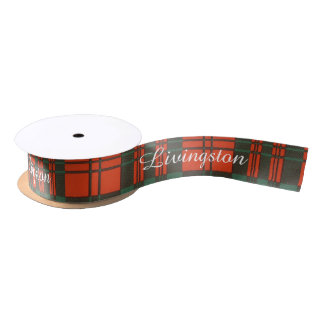 Livingston clan Plaid Scottish tartan Satin Ribbon