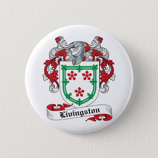 Livingston Family Crest Pinback Button