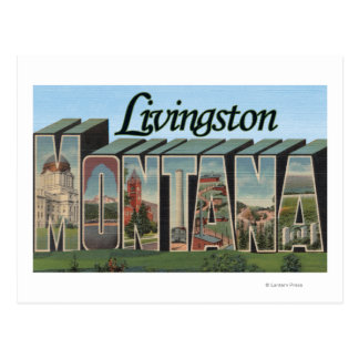 Livingston, Montana Postcard