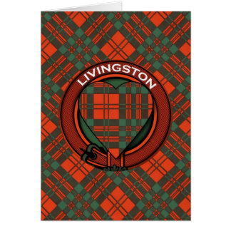 Livingston Scottish Tartan design Card