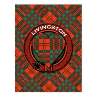 Livingston Scottish Tartan design Postcard