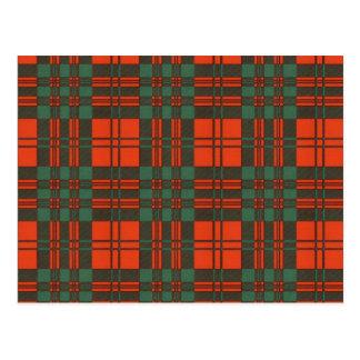 Livingston Scottish Tartan Pattern Postcard