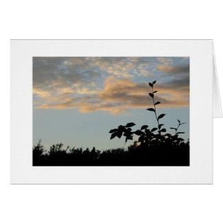 Livingston silhouette card
