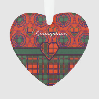 Livingstone clan Plaid Scottish tartan Ornament