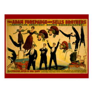 Livingstone Troupe Circus Poster Postcard