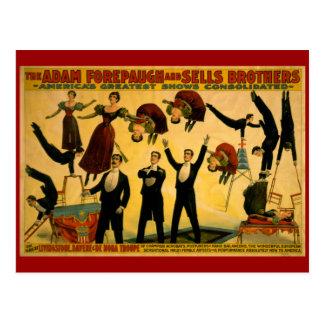 Livingstone Troupe Circus Poster Postcard