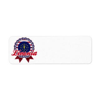 Livonia, IN Custom Return Address Label