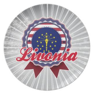 Livonia, IN Dinner Plate