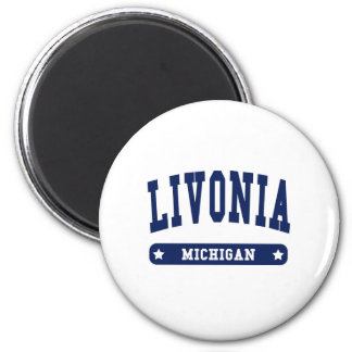 Livonia Michigan College Style tee shirts Magnets