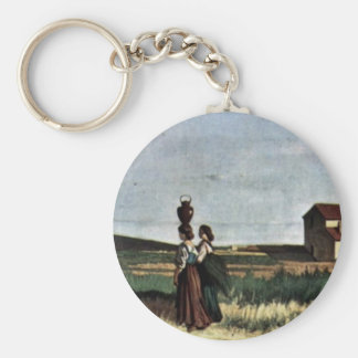 Livornese Water-Bearers By Fattori Giovanni Key Chains