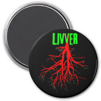 LIVVER round LG magnet ROOTS