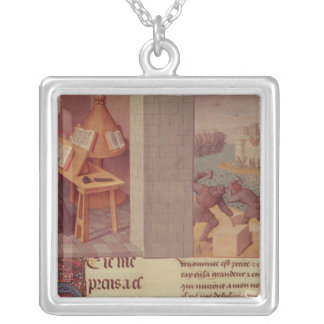 Livy  Writing and the Foundation of Rome Silver Plated Necklace