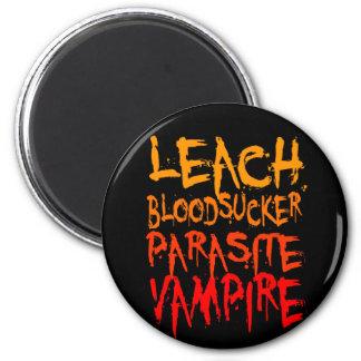 Lixiviación, Bloodsucker, parásito, vampiro Imán Redondo 5 Cm
