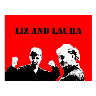 Liz and Laura Postcards
