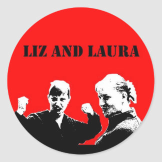 Liz and Laura Sticker (Che Style)