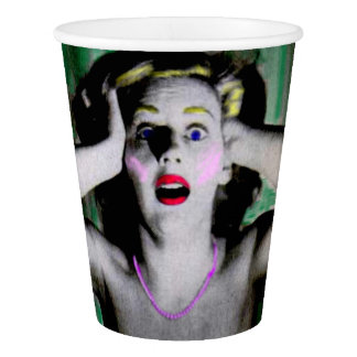 Liz is horrified and terrified paper cup
