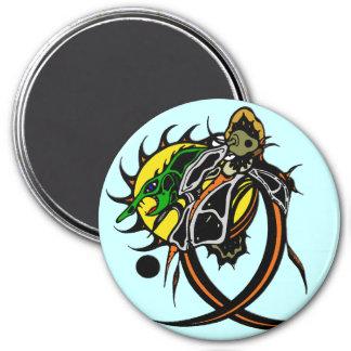 Lizard 3 Inch Round Magnet