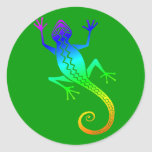 Lizard /8 classic round sticker