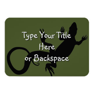 "Lizard Art Invitations Personalized Reptile RSVP 3.5"" X 5"" Invitation Card"