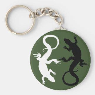 Lizard Art Keychain Cool Retro Reptile Art Gifts