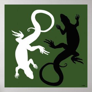 Lizard Art Poster Reptile Art Prints Poster Large