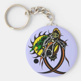 Lizard Basic Round Button Keychain