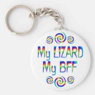 Lizard BFF Basic Round Button Keychain