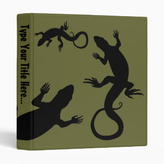 Lizard Binder Cool Reptile Art School Supplies Binders