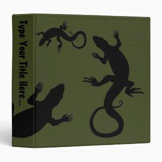 Lizard Binder Cool Reptile Art School Supplies 3 Ring Binders