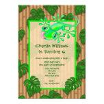 "Lizard Birthday Party 5"" X 7"" Invitation Card"