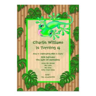 Lizard Birthday Party 5x7 Paper Invitation Card