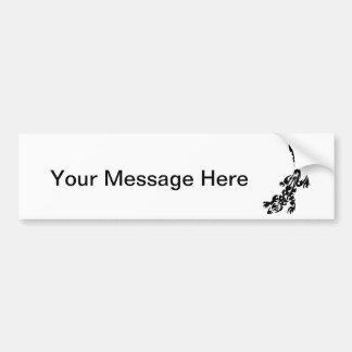 Lizard Black and White Pattern Design Bumper Sticker