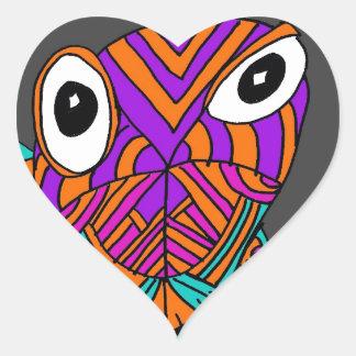 Lizard Bug Heart Sticker