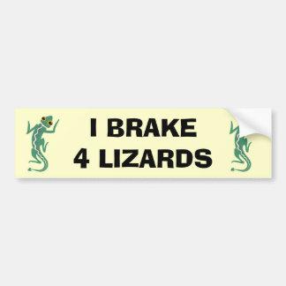 Lizard Car Bumper Sticker