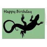 Lizard Card Reptile Art Blank Greeting Card Custom
