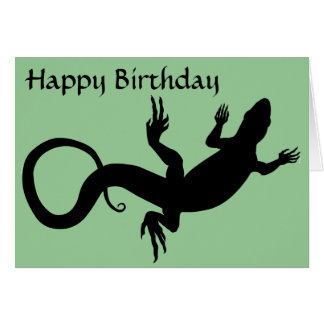 Lizard Card Reptile Art Blank Greeting Card Custom