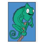 Lizard chameleon postcards