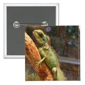 Lizard Climbing a Tree Pin