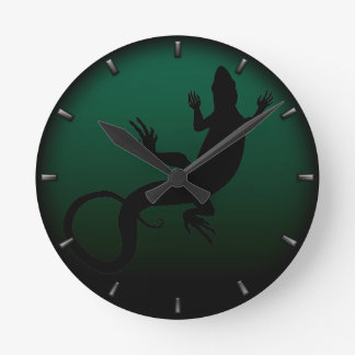 Lizard Clock Cute Reptile Art Lizard Wall Clock