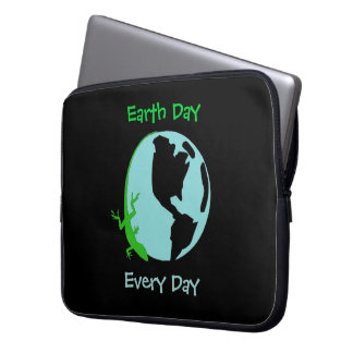 Lizard Earth Day Every Day Laptop Sleeve