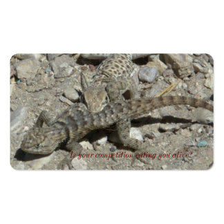 Lizard eating another lizard. Double-Sided standard business cards (Pack of 100)