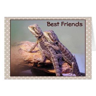 Lizard Friendship Photo Card