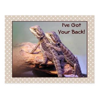 Lizard Friendship Photo Postcard