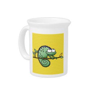 Lizard Funny Cartoon Illustration Beverage Pitcher