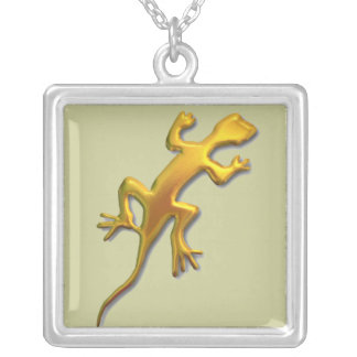 Lizard-gold Silver Plated Necklace
